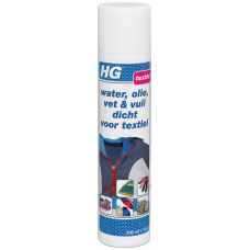 HG WATER, OLIE, VET & VUIL DICHT VOOR TEXTIEL 300 ML