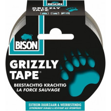 BISON GRIZZLY TAPE ZILVER ROL 10M*6 NLFR